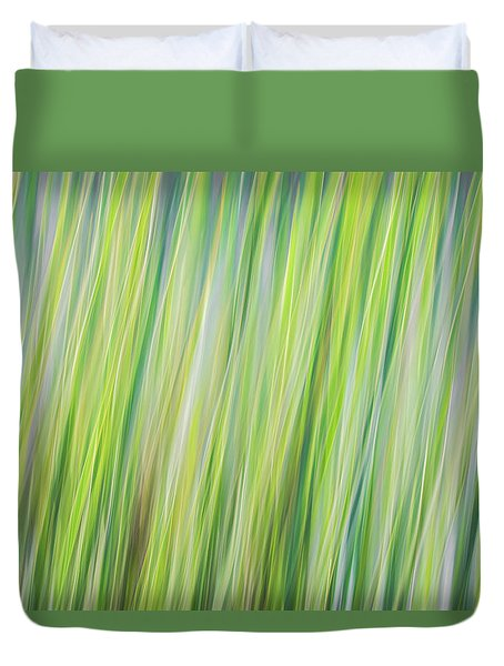 Green Grasses Duvet Cover
