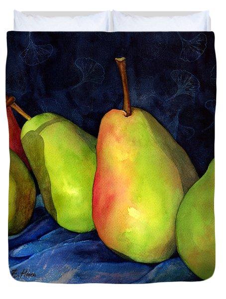 Green Pears Duvet Cover