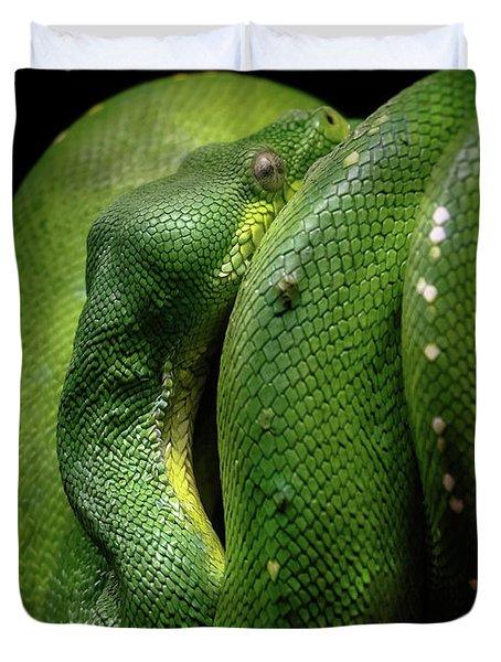 Green Tree Boa Duvet Cover