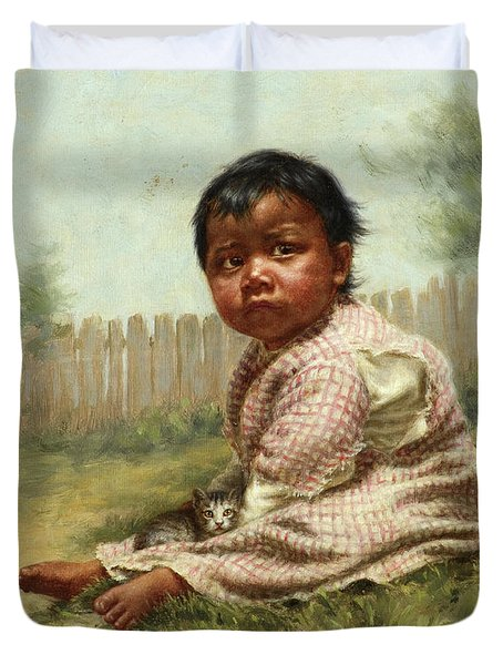 Greenie, 1896 Duvet Cover