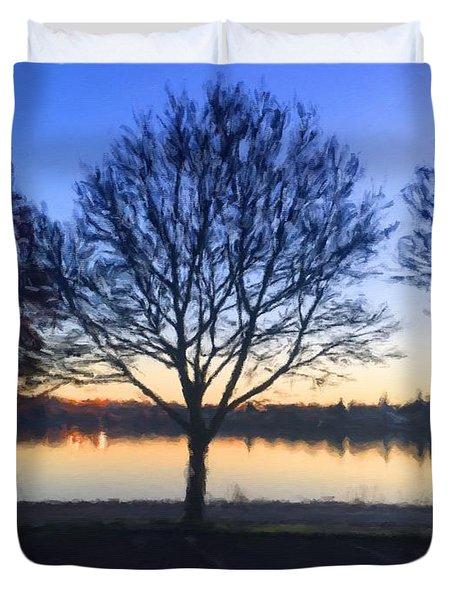 Greenlake Dawn Duvet Cover