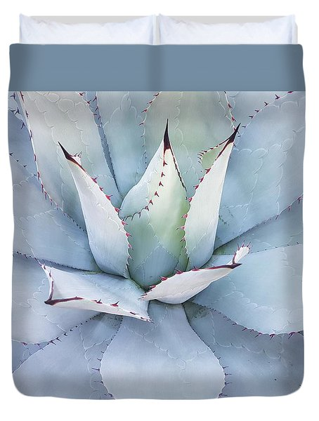 Duvet Cover featuring the photograph Grey Cactus by Top Wallpapers