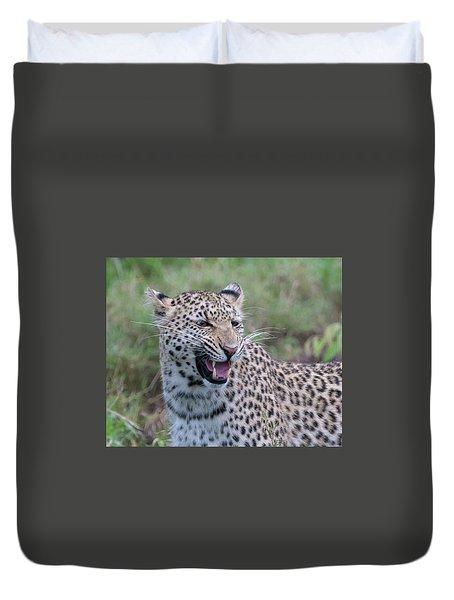 Grimacing Leopard Duvet Cover