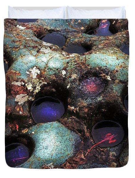 Grinding Rock Duvet Cover