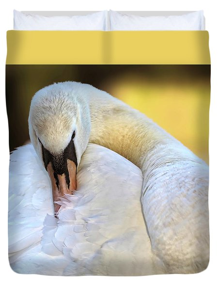 Groom The Plume Duvet Cover