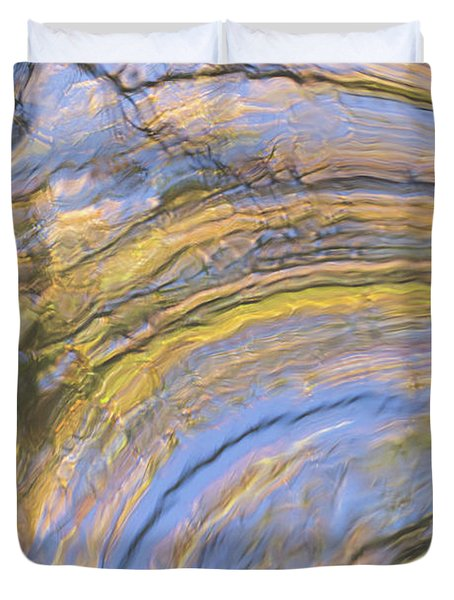 Groovy Autumn Reflections Duvet Cover