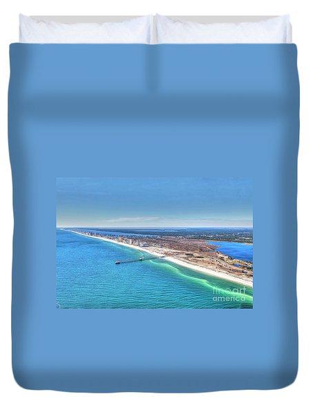 Gsp Pier And Beach Duvet Cover