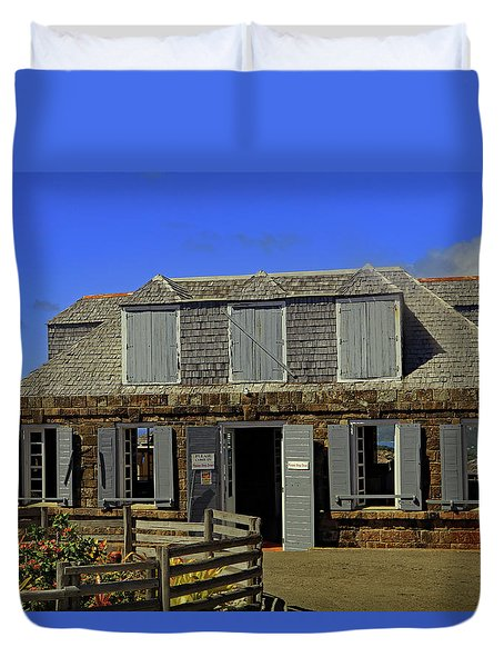 Duvet Cover featuring the photograph Guardhouse by Tony Murtagh