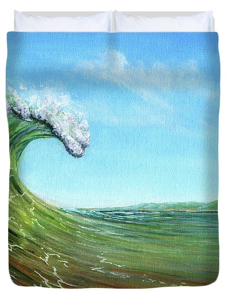 Gulf Of Mexico Surf Duvet Cover