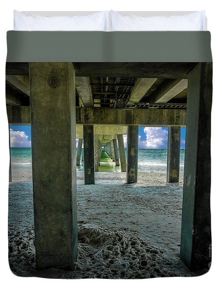Gulf Shores Park And Pier Al 1649b Duvet Cover