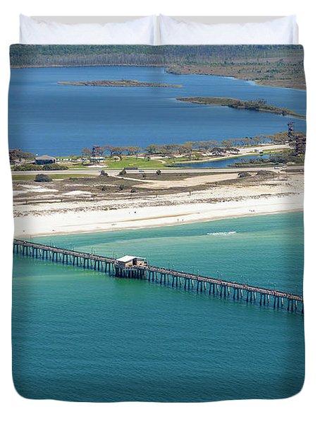 Gulf State Park Pier 7464n Duvet Cover