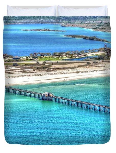 Gulf State Park Pier 7464p3 Duvet Cover