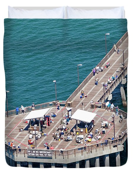 Gulf State Park Pier 7467 Duvet Cover