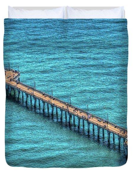 Gulf State Park Pier Duvet Cover