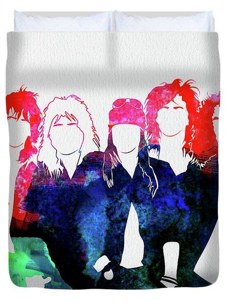 Guns N' Roses Watercolor Duvet Cover