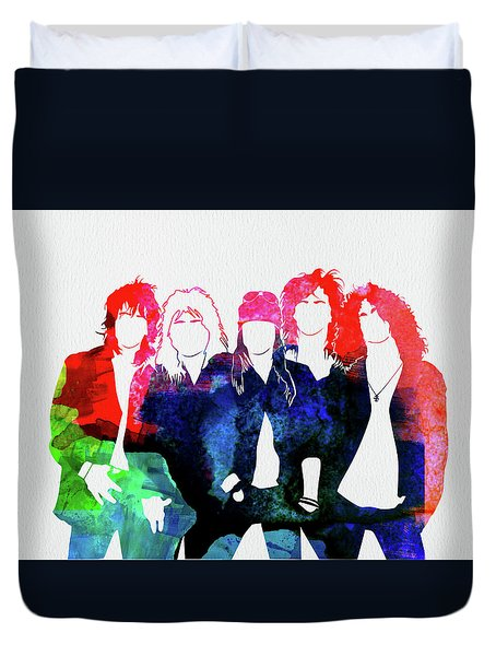 Guns N' Roses Watercolor Duvet Cover