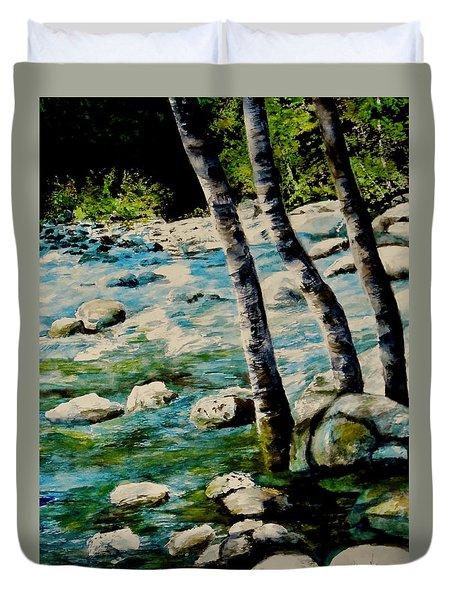 Gushing Waters Duvet Cover