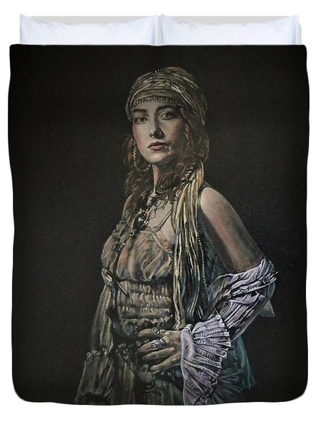 Gypsy Portrait Duvet Cover