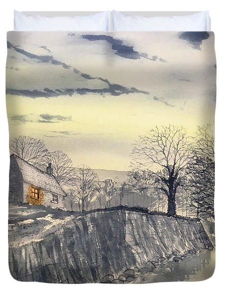 Hag Dyke By Moonlight Duvet Cover