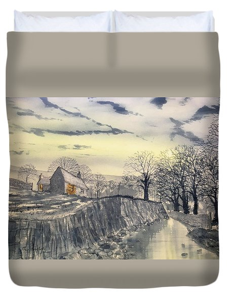 Hag Dyke By Moonlight Duvet Cover