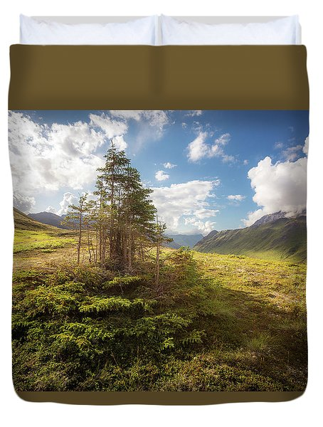 Haiku Forest Duvet Cover