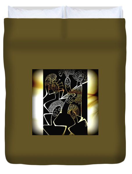 Hair Sisters Stage Set Duvet Cover