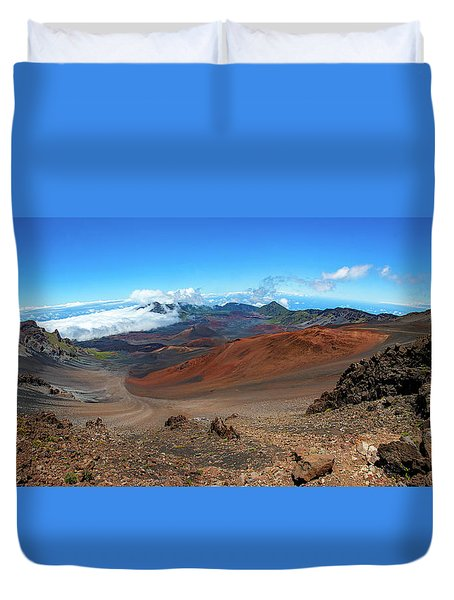 Haleakala Crater Panoramic Duvet Cover