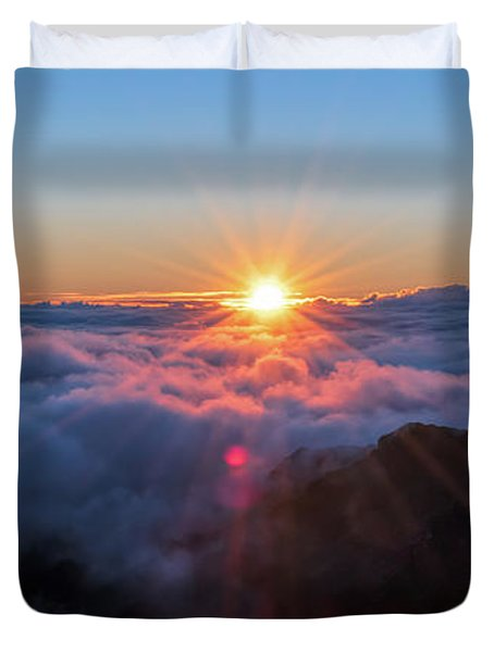 Haleakala First Light  Duvet Cover