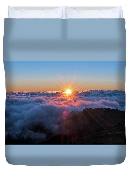 Haleakala First Light  Duvet Cover