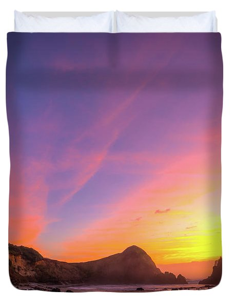 Half Moon Sunset Duvet Cover