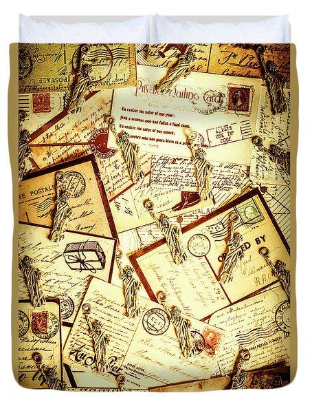 Hallmarks Of Travelling Old Duvet Cover