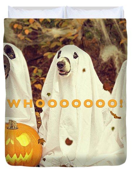Halloween Hounds Duvet Cover