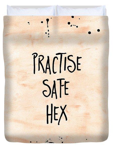 Halloween Practise Safe Hex Duvet Cover