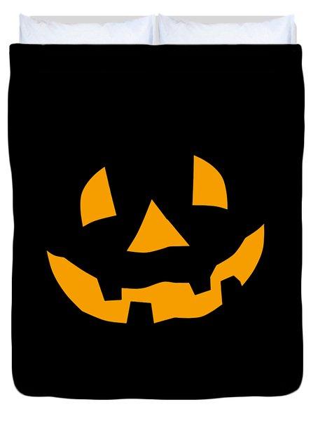 Halloween Pumpkin Tee Shirt Duvet Cover