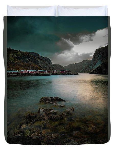 Hamnoy, Lofoten Islands Duvet Cover