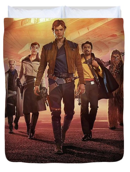 Han Solo Uma Historia Star Wars Duvet Cover
