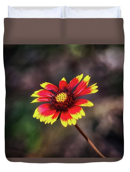 Duvet Cover featuring the photograph Hand Painted by Rick Furmanek