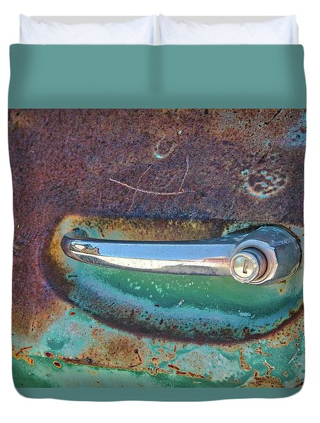 Duvet Cover featuring the photograph Handle It by Lynn Bauer