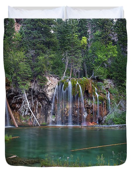 Hanging Lake Colorado Duvet Cover