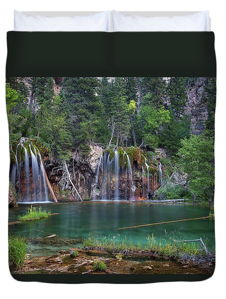 Duvet Cover featuring the photograph Hanging Lake Colorado by Nathan Bush