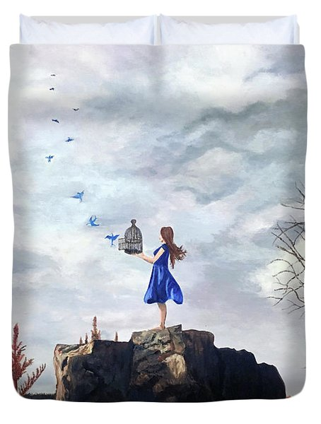 Happiness Released Duvet Cover