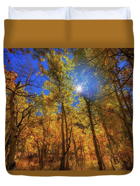 Happy Fall Duvet Cover