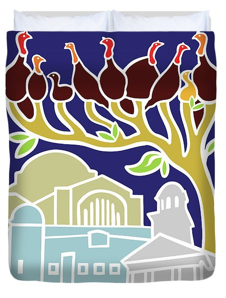 Happy Hanukkah Duvet Cover