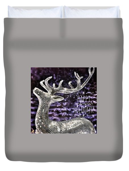 Happy Holiday Sparkle Duvet Cover