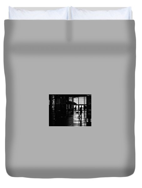 Duvet Cover featuring the photograph Happy Kid by Steve Stanger