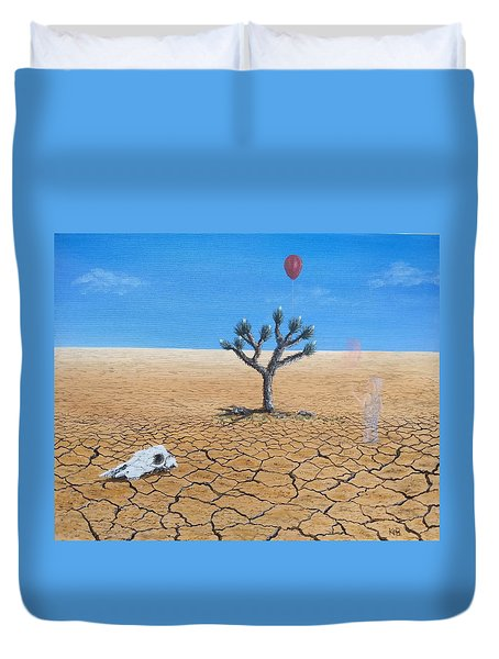 Duvet Cover featuring the painting Happy Little Tree by Kevin Daly
