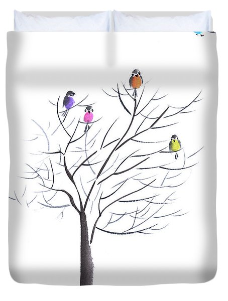 Happy Reunion Duvet Cover