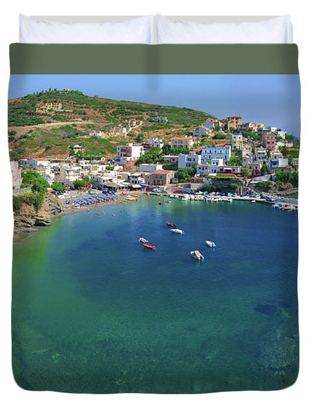 Harbor Of Bali Duvet Cover