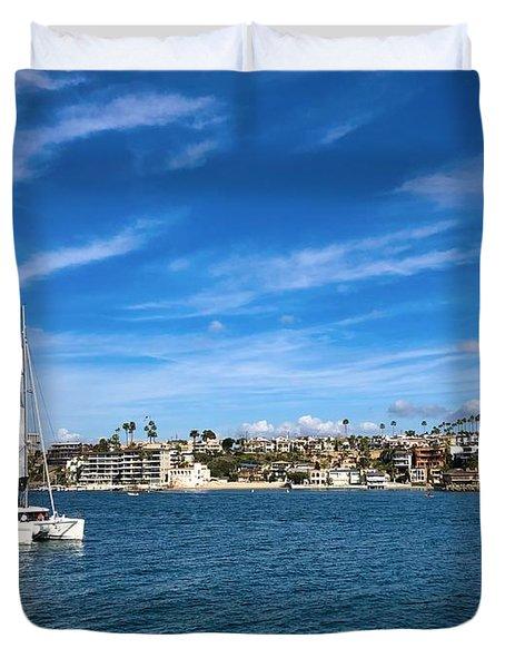 Harbor Sailing Duvet Cover