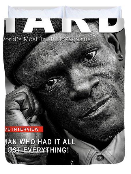 Hard Times Magazine Duvet Cover
